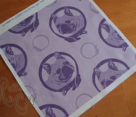 Collared French Bulldog portraits - purple