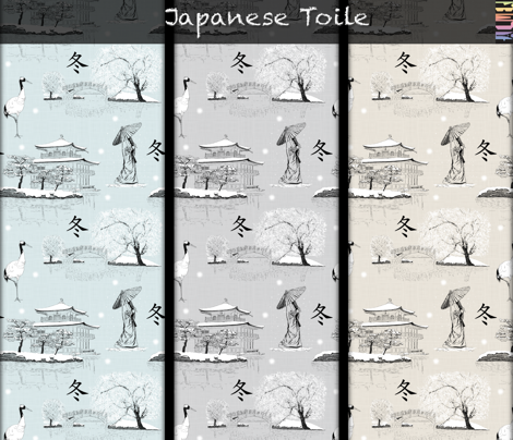Japanese Toile (Grey)