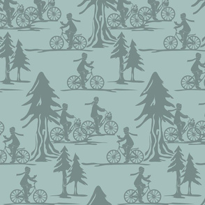 Winter time biking