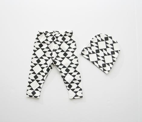 Navajo Inspired Black on White Geometric