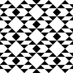 Black on White Geometric Design