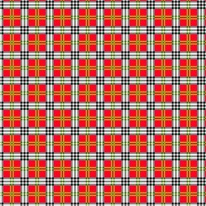 Red, Black, Green, and White Plaid