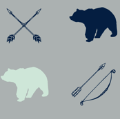 Bear and Arrows // Northern Lights