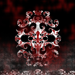 StacyCK Studio - Red & Black Scrollwork - Panel