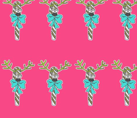 Candycane Reindeer fabric by gabbybymel on Spoonflower - custom fabric