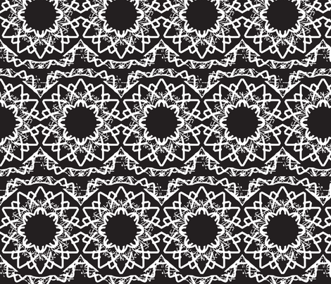 Put black in the Centre fabric by inniv8z_oz on Spoonflower - custom fabric