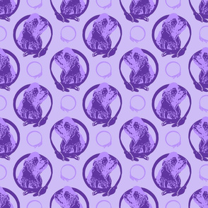 Collared Cocker Spaniel portraits - purple
