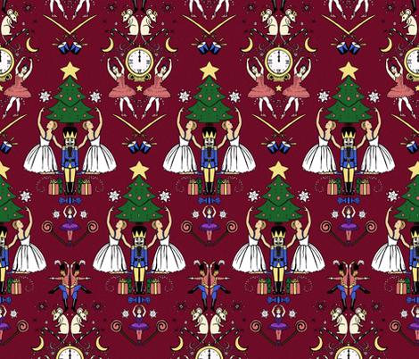 Dance the Nutcracker fabric by lvohamilton on Spoonflower - custom fabric