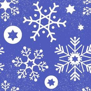 Hanukkah Snowflakes (Periwinkle)