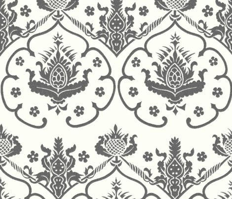 DESIGN Rgothic Damask Cologne Silver Embroidery On Lonely Angel Blue Faux Wool Peacoquette Designs Copyright 2014 Shop Preview