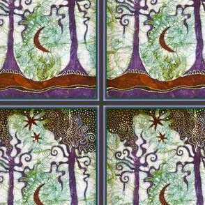 Two Trees With Frame