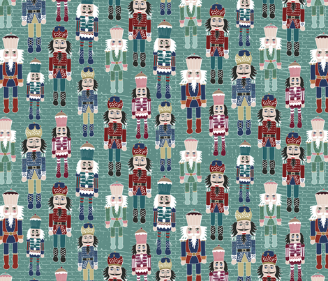 NutcrackerCell-01-01 fabric by estherbleydesigns on Spoonflower - custom fabric