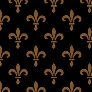 14th Century Fleur De Lys ~ Gold and Black