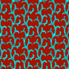 Ramages ~ Turquoise on Turkey Red