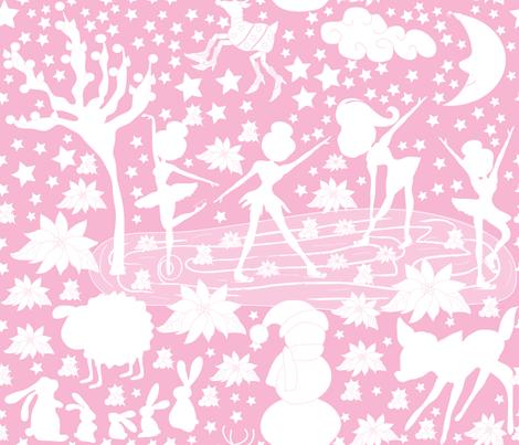 Strawberry Skaters fabric by orangefancy on Spoonflower - custom fabric