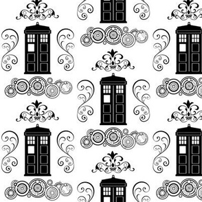 Police Box Damask Small