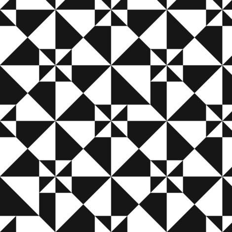 Black And White fabric by ornaart on Spoonflower - custom fabric