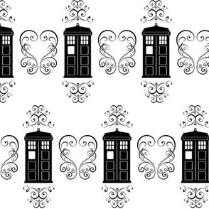 Police Box and Scrolls Small
