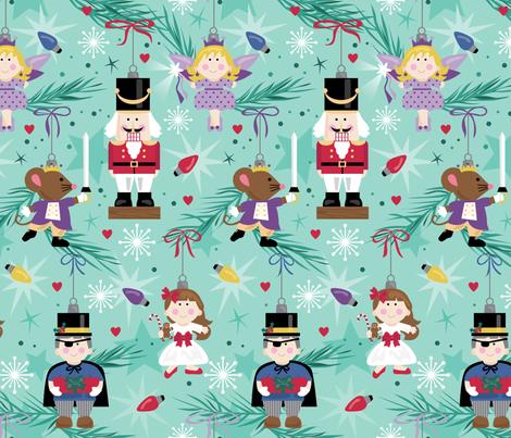 Nutcracker Ornaments fabric by lisa_kubenez on Spoonflower - custom fabric
