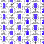 Police Box Damask Royal Small