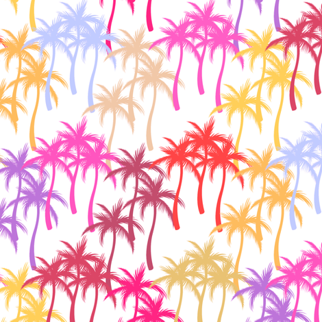Colourful Palm Trees #10 fabric by ornaart on Spoonflower - custom fabric