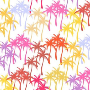 Colourful Palm Trees #11