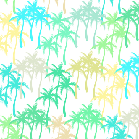 Colourful Palm Trees #14 fabric by ornaart on Spoonflower - custom fabric
