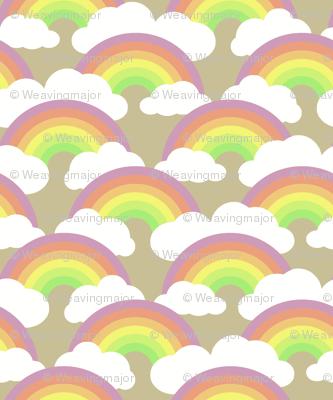 rainbow scallop on tan