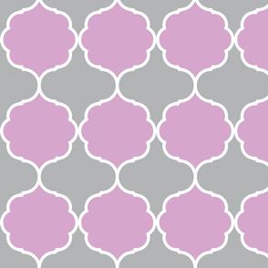 Hexafoil Lavender Gray White
