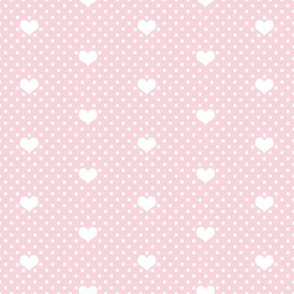 Polka Dot Heart Rose Pink