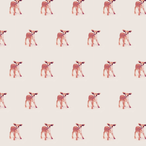 Bambi, Mini Fawn on Vintage Cotton fabric by thistleandfox on Spoonflower - custom fabric