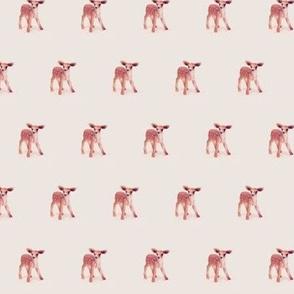 Bambi, Mini Fawn on Vintage Cotton