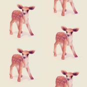 Bambi, Mini Fawn on Vanilla