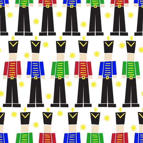 A Nutcracker Parade fabric by robyriker on Spoonflower - custom fabric