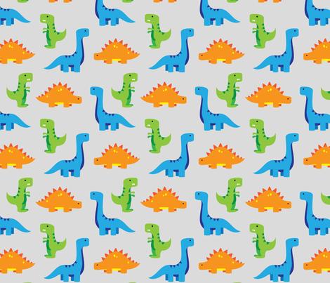 dinosaurs fabric by castl3t0n on Spoonflower - custom fabric