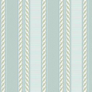 Pale Blue and Mint Border