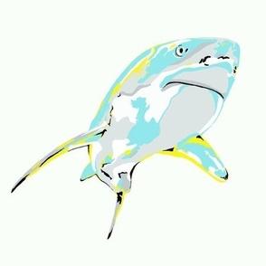 "Large Shark - 8"" x 8"""