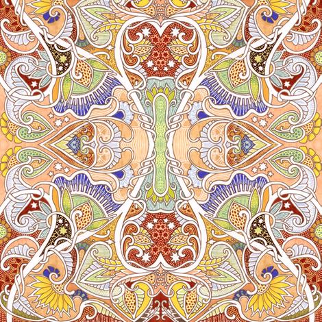 Love Grows Paisley fabric by edsel2084 on Spoonflower - custom fabric