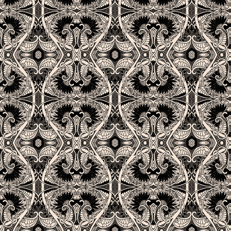 Flutter In the Dark fabric by edsel2084 on Spoonflower - custom fabric