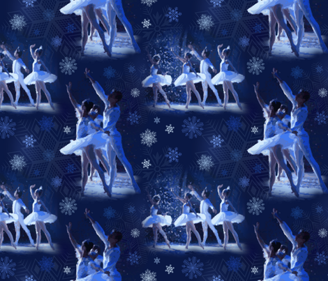 Dance of the Sugar Plum Fairy fabric by reneechristine on Spoonflower - custom fabric