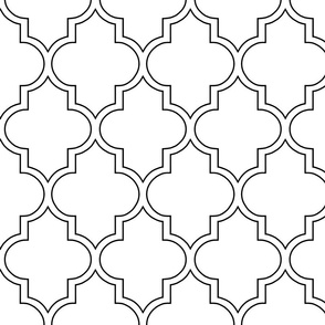 Moroccan Outline Quatrefoil in Black