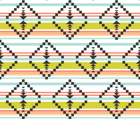 citron aztec stripe fabric by ivieclothco on Spoonflower - custom fabric