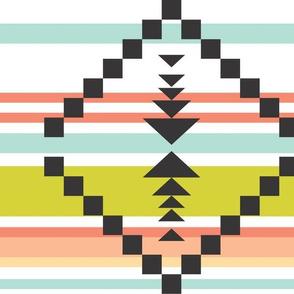 citron aztec stripe