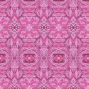 Hot Pink Daisy Diamond Link