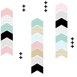 chevron sticks // pastel