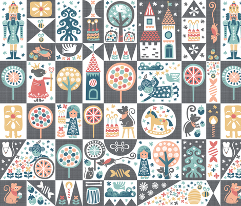 Nutcracker Cheater Quilt fabric by studio_amelie on Spoonflower - custom fabric