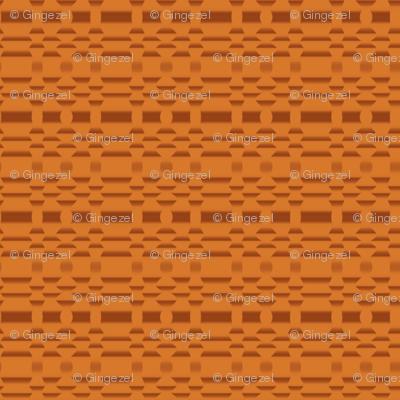 Aspen Orange Geometric Stripe