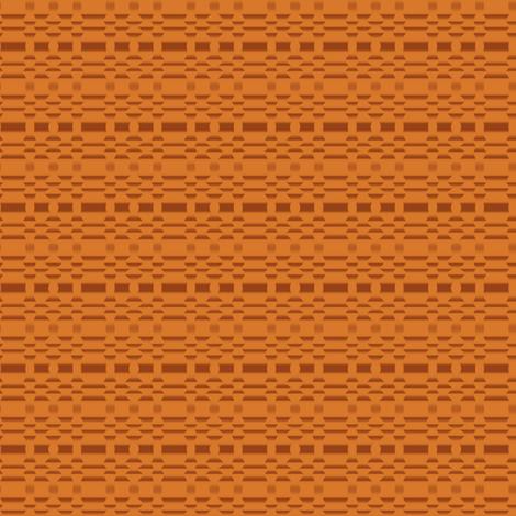 Aspen Orange Geometric Stripe fabric by gingezel on Spoonflower - custom fabric
