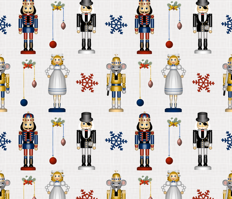Nutcracker Figurines Set fabric by vannina on Spoonflower - custom fabric