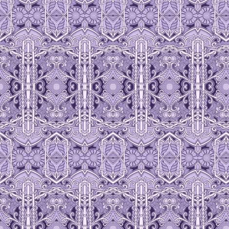 Purple Victorian Gardens fabric by edsel2084 on Spoonflower - custom fabric
